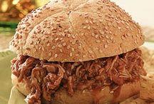 Honey roast pork sandwich  / Dinner meal