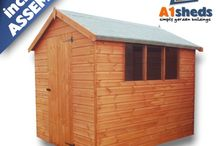 A1 Sheds / A1 Shes own brand items, including sheds, security accessories, and ventilation.