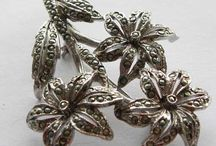 Antique and vintage marcasite jewellery / We love antique marcasite jewellery as well as vintage marcasite - some may be newer and some faux marcasite. But all have that glittering quality