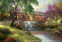 tHoMas kiNkAde / Thomas Kinkade was one of my favorite artists, his art will forever retain a special place in my heart. I will truly miss him.