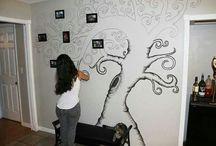 drzewo na ścianie