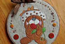 Embroidery Stitch Outs / Embroidery Designs by Trina Walker, stitched out by various customers.