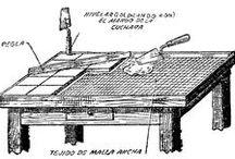 mesa con azulejos