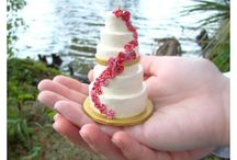 Wedding Cake replicas / Miniature replicas of your Wedding Cake.  A wonderful keepsake of your beautiful cake and special day.  What a unique and personal gift for the bride and groom, and a potential heirloom! / by Specialty Wedding Cakes