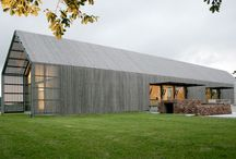 """""""Do you live in a barn?!"""" - house architecture / My mother always used to say this when we would leave things lying about, or leave the door open. All these houses take the simple functional form of the barn and create beautiful living spaces from it. #barns #barnhouse #modern / by VELD architect"""