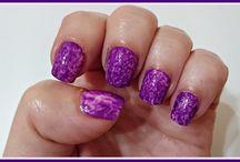 Técnica Saran wrap / Manicuras,Nail art