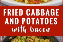 Fried cabbage and potatoes