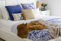 white&blue bedroom
