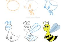 Animals - Complex / Adorable drawing lessons featuring complex animals.