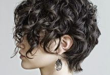 Short Curly Styles / Hairstyles for curly hair, with and without fringe