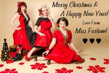Christmas, Pinup Style! / A collection of our festive Miss Fortune shoots from over the years.  A very rockabilly, rock 'n' roll and vintage take on the most wonderful time of the year!