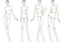 Croqui / Poses de croqui para desenho de moda
