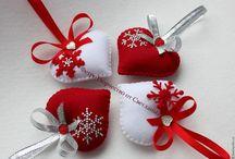 vianočne šite ozdoby