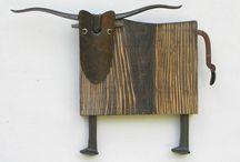 wood n metal sculptures