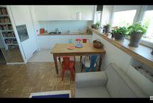 dom - salon z aneksem kuchennym, kuchnią