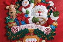 Navidad en tela / cosas hechas en tela y papel para navidad