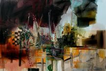 Abstract Expressive Textural - Paintings