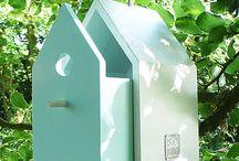 vogelhuisjes / de mooiste leukste of apartste vogelhuisjes die zelfgemaakt zijn.