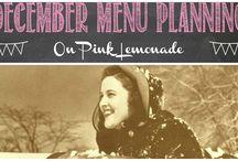 December Menu Planning / Ideas for December menus