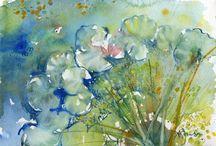 Barbara 2 / Watercolour flowers