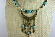 Memory wire necklaces