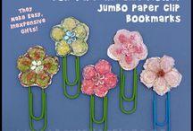 paper clip flowers