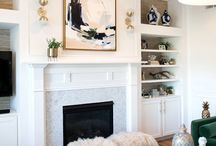 Fireplace and Builtins / A collection of my obsessing over fireplace and builtin options for living rooms.