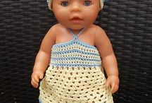 Poppen / Babybornkleding gehaakt