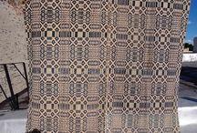 Overshot Coverlet Weaving / by K R