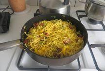 spaghetti / vlug en snel lekker eten.....