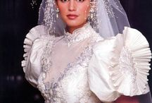 80's Wedding Dresses / Apparently, in the 80's the bride's goal was to look very much like a wedding cake.