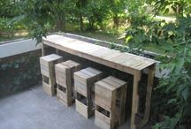 Pallets and driftwood