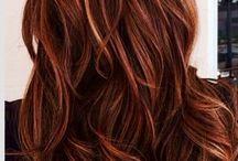 Pelo Color Rojo Con Reflejo