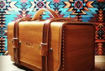 Wood leather bags