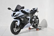 Kawasaki Ninja ZX 6 R 2013/2016 by Ermax Design / Accessories, windshield, rear hugger, exhaust, seat cover