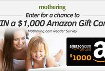 Mothering Contests / It's your chance to win a plethora of cool and unique products that are perfect for natural mamas. Check back often to enter sweepstakes, giveaways, and contests we're hosting on Mothering.com.