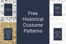 Free Historical Costume Patterns / All pattern links have been moved to costumingdiary.com.