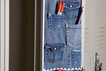 porta tasche in jean