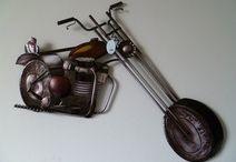 Elegant Wanddeko Metall Motorrad wanddekoration metall online bei dawanda