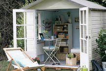 """Drømmen om mit haveskur / Ideer til mit helt eget """"helle"""" i haven..."""