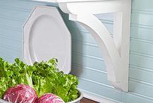 Kitchens / Modern farmhouse and bright white kitchen inspiration