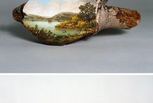 paintings on objects
