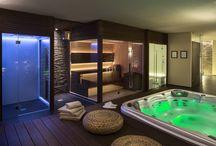 Dampbad, sauna og badeværelse