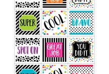 Bold and Bright Theme / Trendy patterns of spots and stripes!