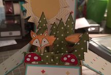 Stampin UP 3-D cards / this is a collection of cards that so a step further to stand alone, incorporate a present/card together or pop-out/up.
