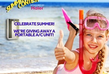 Summer Cool Off Contest / We're giving away a Haier Portable Air Conditioning Unit to one lucky fan. Enter at https://contest.io/fb/ggykyage / by Haier