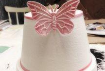 CarolinArts - Ashtrays / My Handmade Ashtrays. #Design #ashtray #ash #smoking #interior #handmade #craft #hantverk #pink #white #butterfly #krukor #askkopp #art