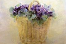 cuadros oleo flowers