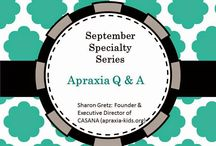Special Guests as featured on SLP Mommy of Apraxia / Apraxia related information