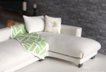 Miniatyr møbler og hus . Miniature